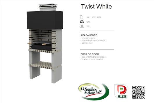 Churrasqueira Modelo  TWIST WHITE