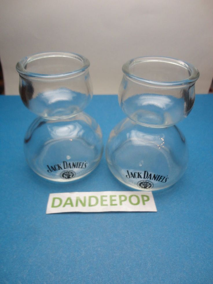 2 Jack Daniels No 7 Bubble Shot glass Whiskey Liquor Glassware Bar Barware find me at www.dandeepop.com
