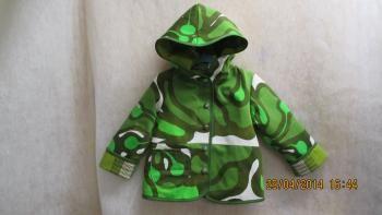 Kierrätyskankainen takki lapselle