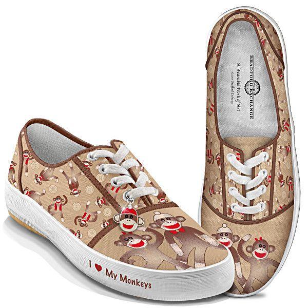 Sock Monkey Women's Shoes