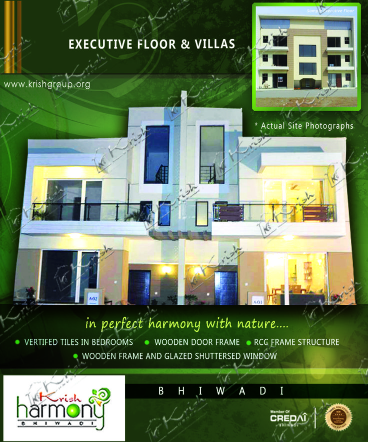 """Krish Group Villas in bhiwadi are well structured & maintains in the Dock of Nature which makes this different from others. The Construction is on his sharp mode. Krish Harmony Project in bhiwadi is a Pollution immune environment based luxuries apartments and villas.Krish Harmony 2bhk apartment in bhiwadi A place to live when life meets harmony with """"1040 Sq feet (96.62 Sq meter) area 36Lac.There's the environment if free from deafening whispering & the monotonous days."""