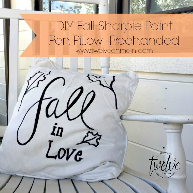 DIY Fall Sharpie Paint Pen Pillow Part 2 With Free Fall Printables!