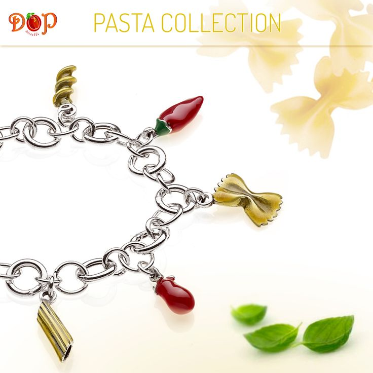 Discover #gioiellidop Pasta Collection. Sterling Silver and Enamels Costume Jewelry, entirely handmade in Italy. Create your favorite recipe