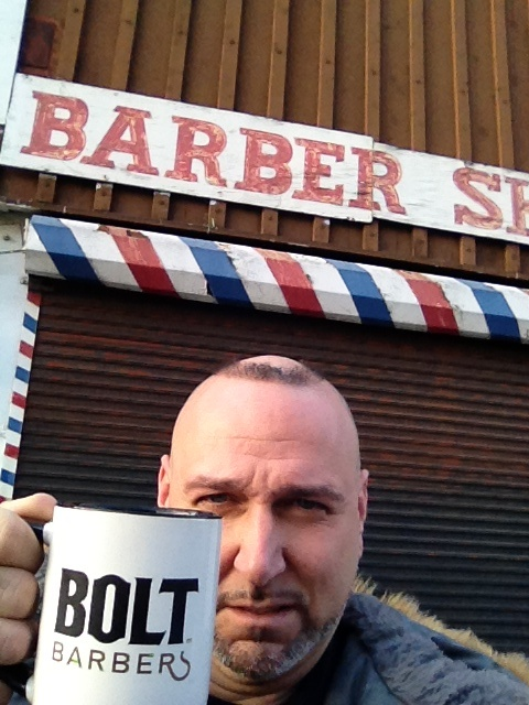 Confused. Founder Mohawk Matt, under the impression today is Operation Clean CUP, waits patiently at a Koreatown barbershop to open and make his horrible horseshoe beautiful, shaving mug in hand. Mohawk, it's Operation Clean CUT not Cup. Avoid Konfusion which leads to wanting a haircut like Mohawks. Get your head shorn today at Bolt Barbers DTLA Flagship, 460 S Spring St, Los Angeles, CA 90013 213 232 4715 www.boltbarbers.com Open Sundays 10a-7p for Operation Clean Cut. Get shorn or shaved…