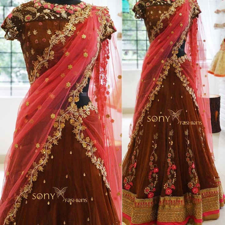 Classy Outfit by Sony fashions  !!!! lehanga  weddingdress  designer  couture  To place order mail us :-Sonyreddy24@gmail.comWhtsapp or call:-8008100885 17 September 2016