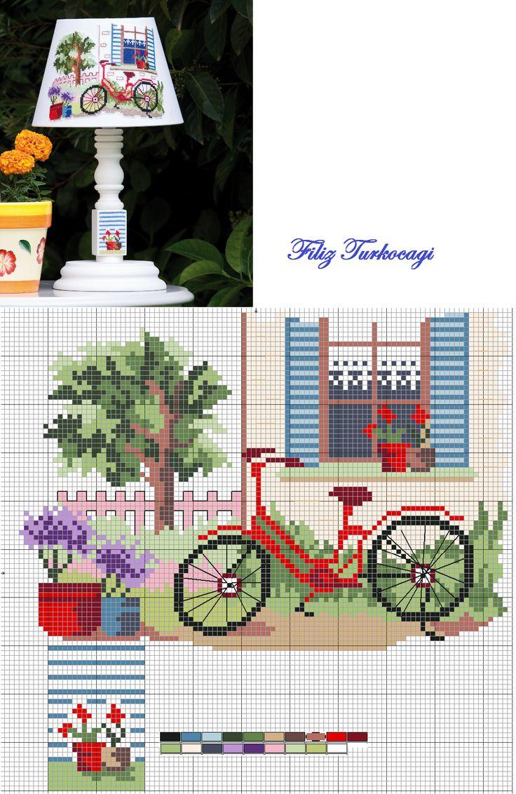 ABAJUR :3 Baharın ilk günlerinde tam da sırasıdır diye düşündüm :) Designed and stitched by Filiz Türkocağı...