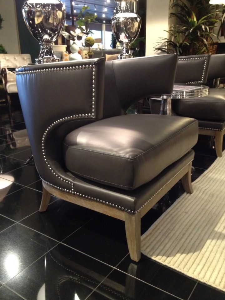 Not Really A Diy, But This Furniture Gallary Is Amazing, This Leather  Accent Chair Has An Immaculate Looking Leather Nailhead Trim.