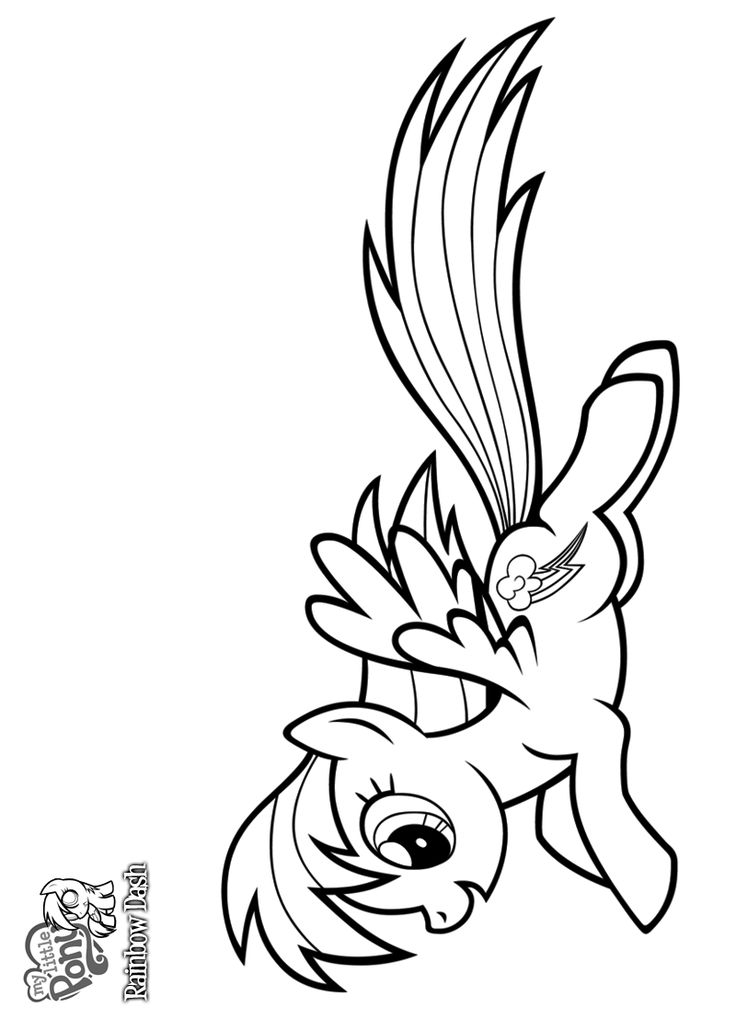 rainbow dash as a filly coloring pages | Rainbow Dash Coloring Pages | Bratz Coloring Pages ...
