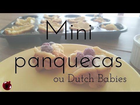 Mini dutch babies, ou mini panquecas desinfladas