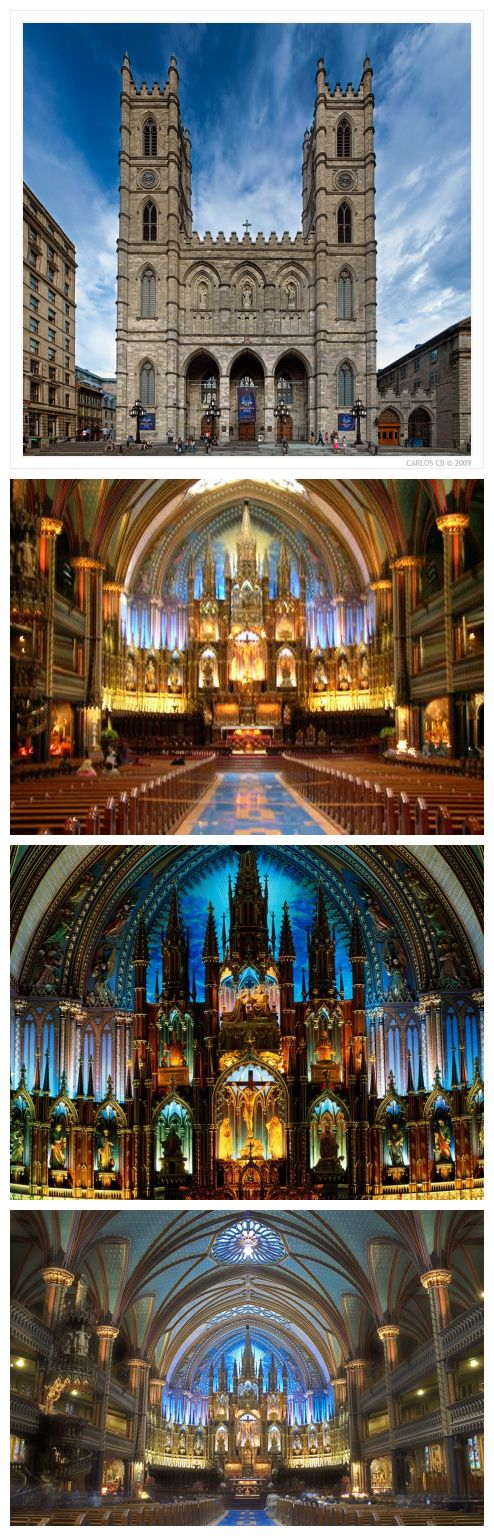 Notre Dame Notre Dame Cathedral (basilique Notre-Dame) was built in 1829, Montreal's Old Town's most famous tourist attractions, but also one of the largest church in North America.
