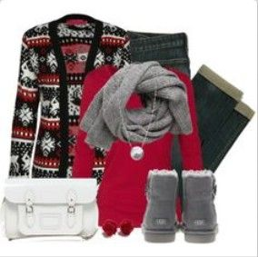 lovely  comfy uggs outfit with grey ugg boots   grey scarf