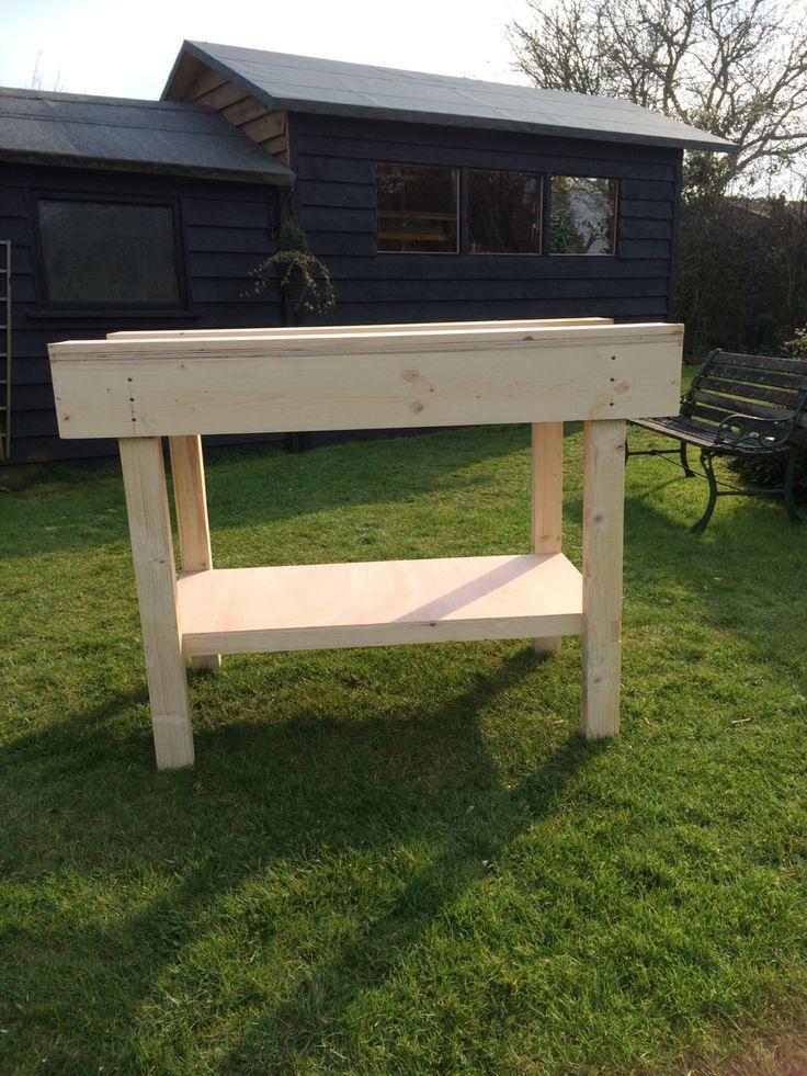 best 25 wooden work bench ideas on pinterest. Black Bedroom Furniture Sets. Home Design Ideas