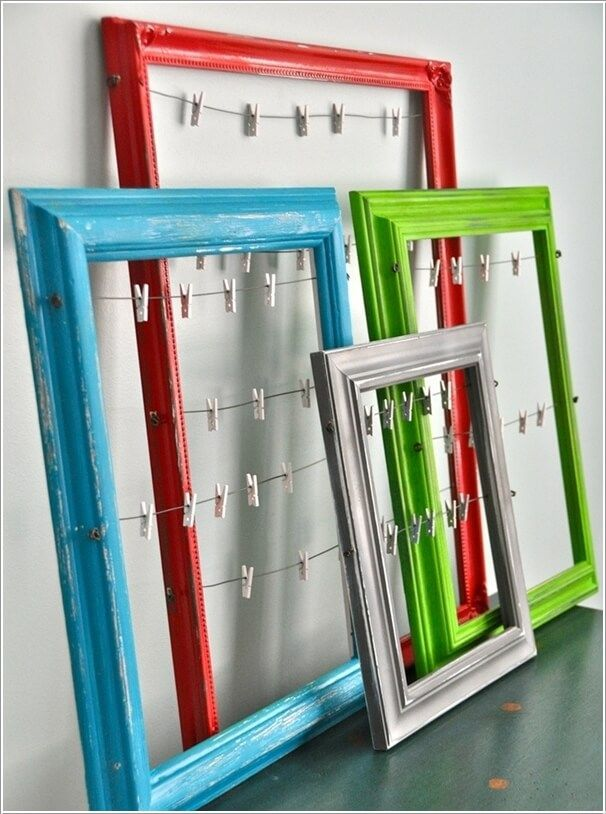 Easy ways to repurpose and reuse Dollar Store picture frames.