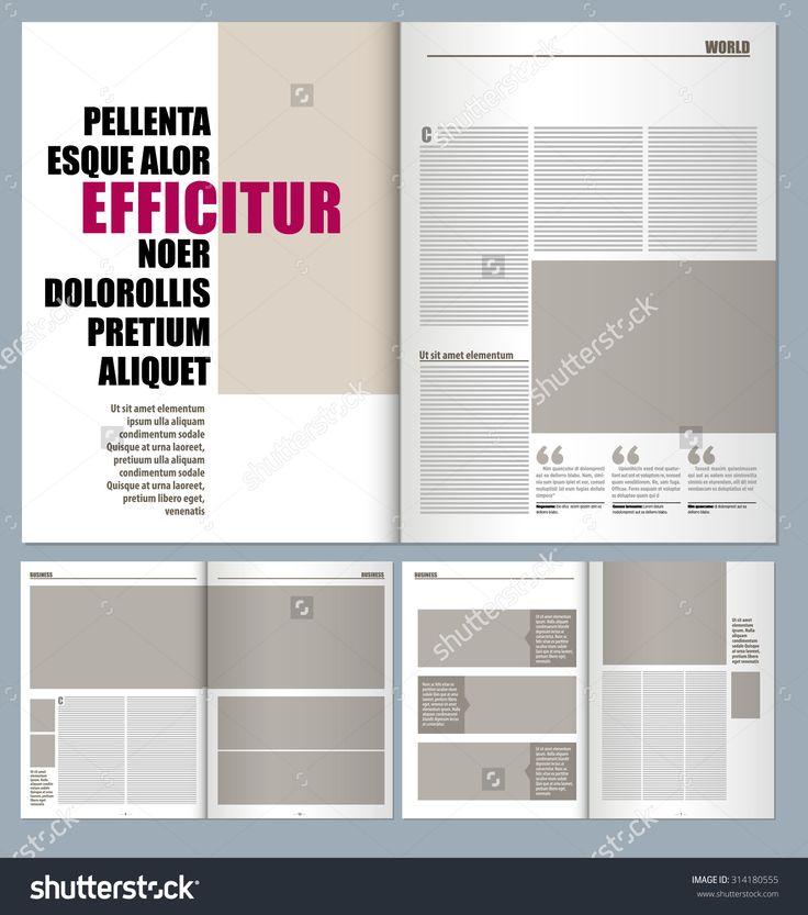 modern magazine layout template Дизайн макета страницы