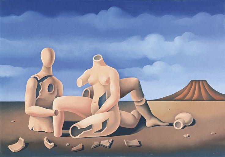 * Mario Carreño - - - Los Olvidados - (036-001) pintor cubano-chileno