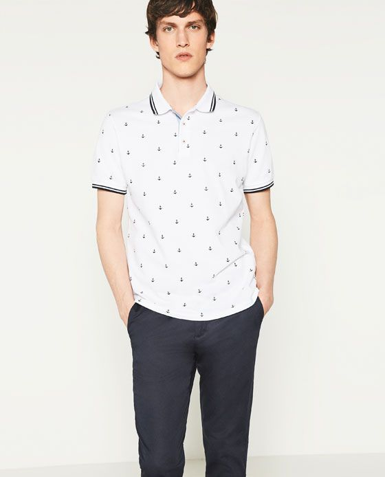 withe polo with simple pardon