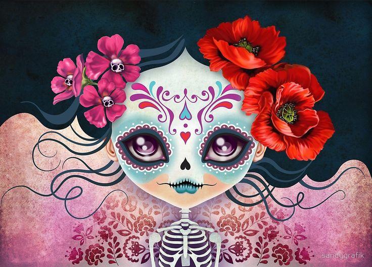 «Amelia Calavera - Sugar Skull» de sandygrafik