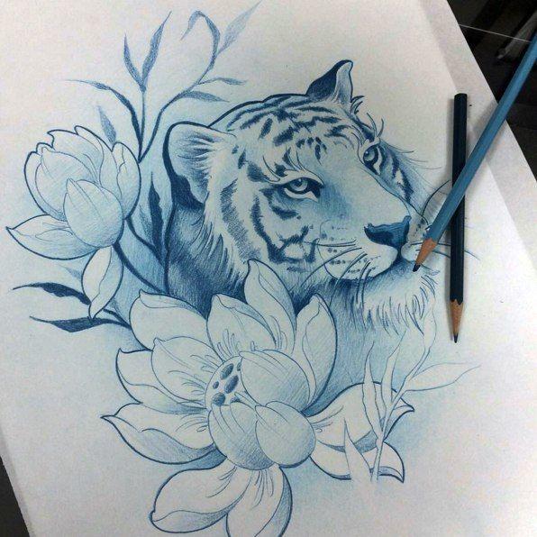 Tiger Tattoos And Flower: Best 25+ Tiger Tattoo Ideas On Pinterest