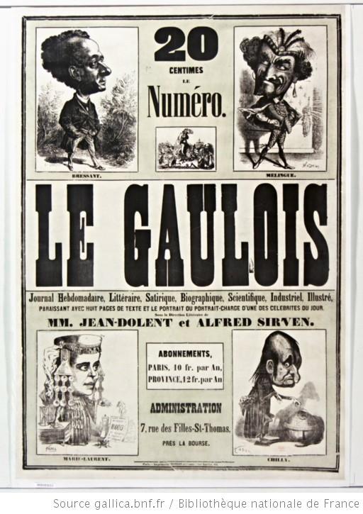 Le Gaulois - (source #BNF)