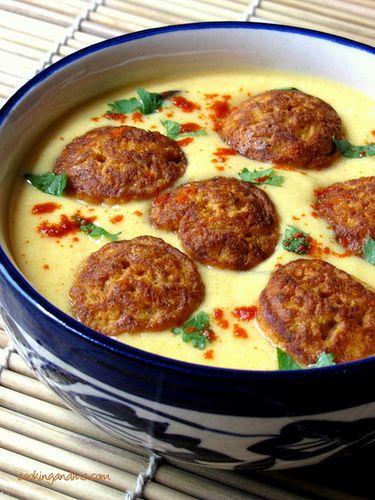 Kadhi Pakora Recipe | Khadi Pakoda Recipe Punjabi-Style