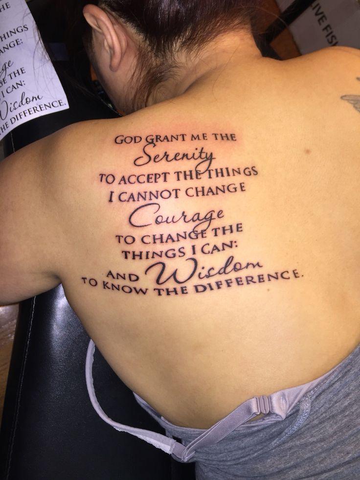 Best 25 Serenity Prayer Tattoo Ideas On Pinterest Mens