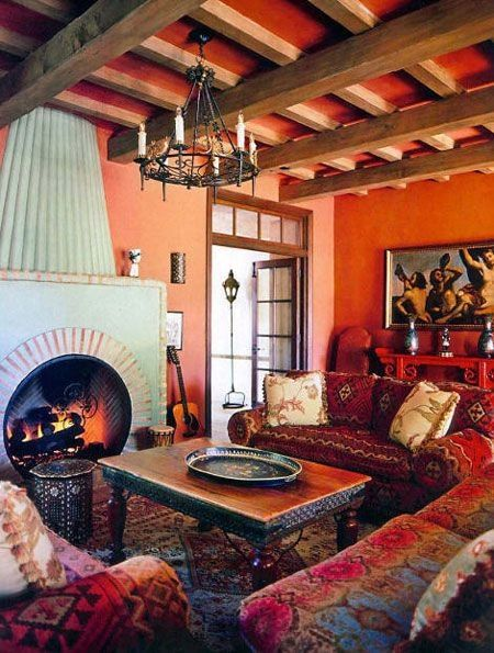 1223 best mexican interior design ideas images on pinterest mexican style haciendas and for Spanish inspired living room