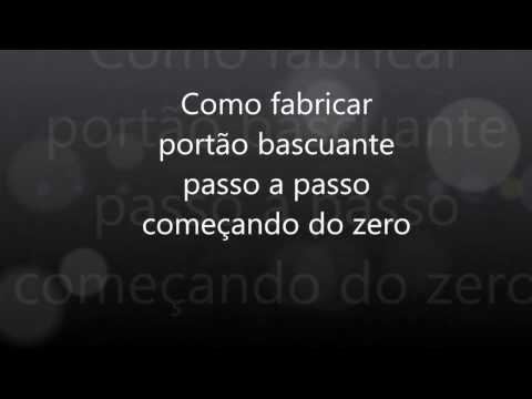 Curso de Portão Basculante - Ponto de Giro e Braço - YouTube