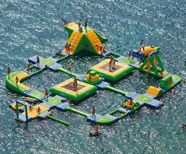 Sports Park 60 by Wibit Sports: Water Toys, Playground, Water Fun, Lakes Houses, Obstacle Courses, Summer Fun, Water Parks, Summerfun, Kid