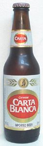 Carta Blanca is a American Adjunct Lager style beer brewed by Cervecería Cuauhtémoc Moctezuma, S.A. de C.V. in Monterrey (Nuevo León), Mexico. 62 out of 100 with 443 ratings, reviews and opinions.