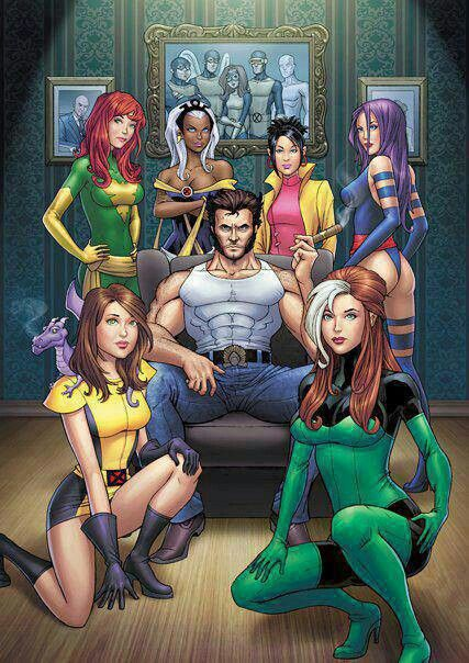 Wolverine and the ladies of the X-Men