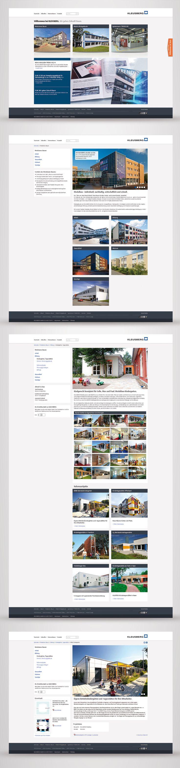 Screendesign / Webseite der Firma KLEUSBERG von MSM Werbung
