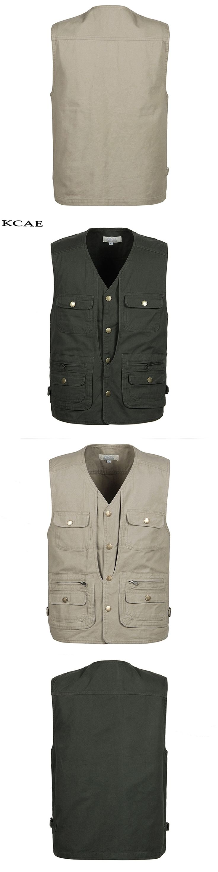 2017 New Arrival Summer Travels Vests Men's Vest XL-4XL Photographer Vests Causal Shooting Vest with Many Pocket
