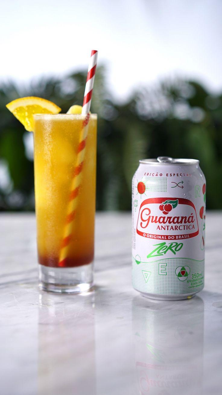 Quer preparar uma bebida refrescante e diferente? Experimenta essa raspadinha de laranja com Guaraná Antarctica Zero!