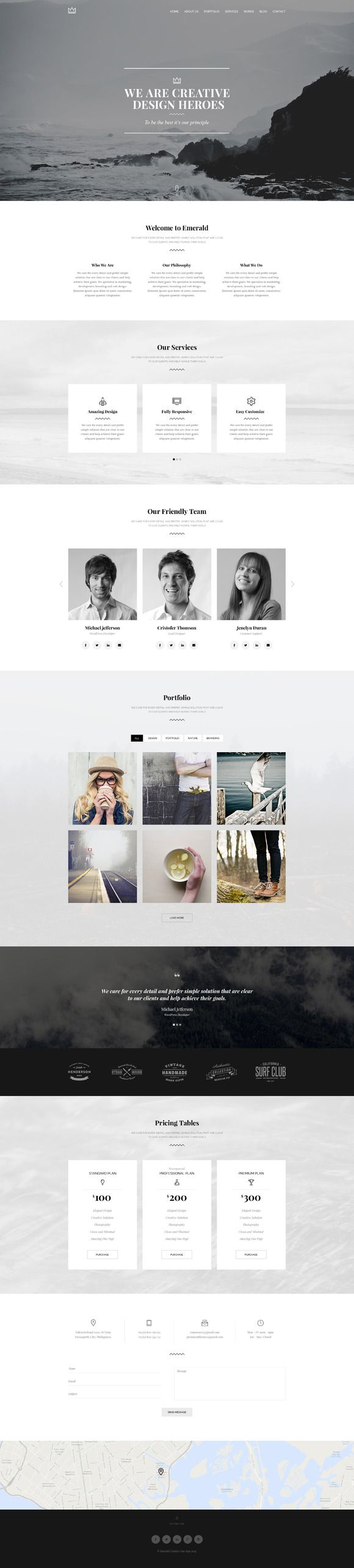 Check out Emerald - Creative Minimal Onepage by Romaximus on Creative Market