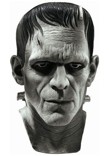This deluxe Frankenstein mask is a great choice for Halloween. This deluxe Halloween mask makes a great Halloween costume on its own or with another costume.