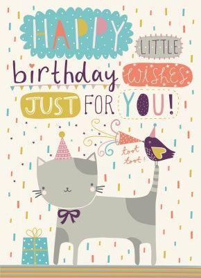 Feliz cumpleaños con gatos