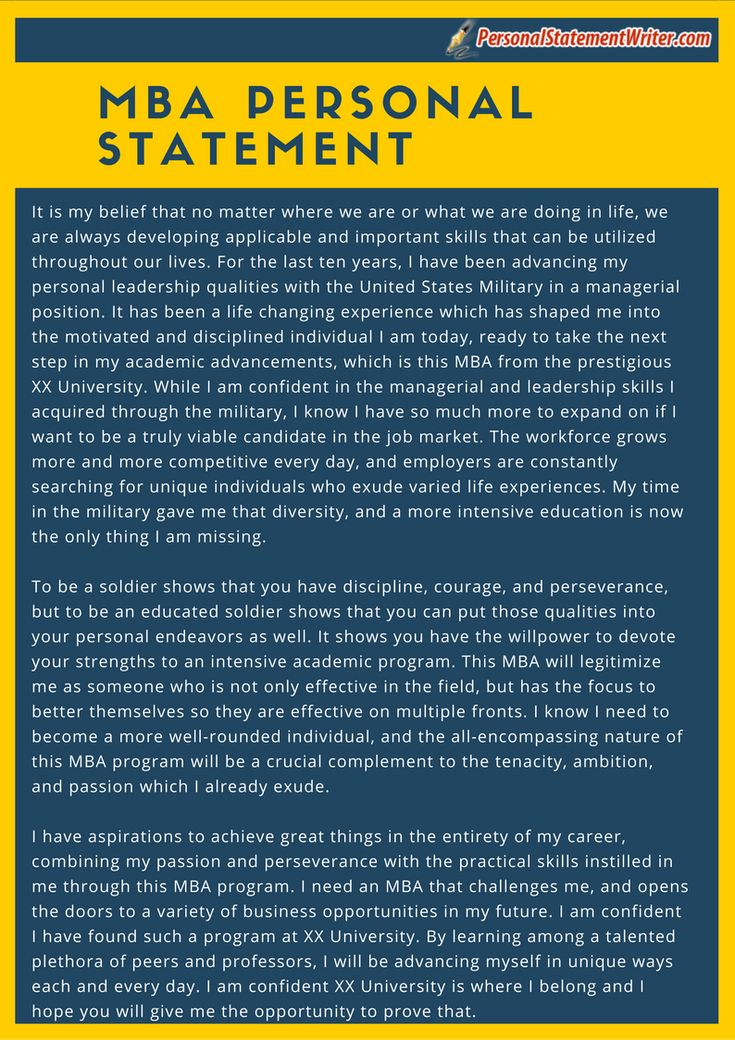 Take a look at this MBA personal statement sample and see how you ...