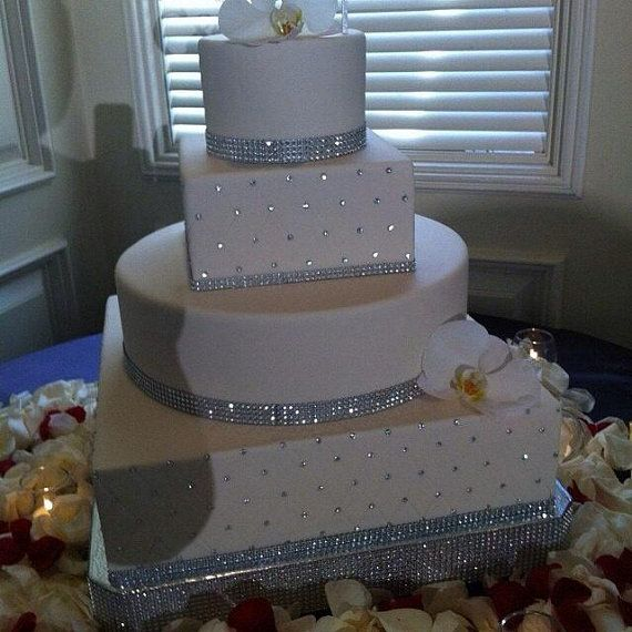 16 Quot Or 18 Quot Quot Square Dazzling Diamonds Quot Bling Wedding Cake