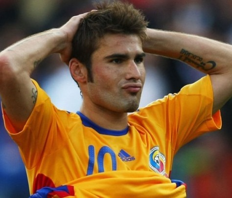 Adrian Mutu playing for Romania at Euro  2008.