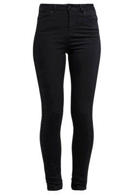 Kleding Vero Moda VMSEVEN - Slim fit jeans - black Zwart: 34,95 € Bij Zalando (op 18/10/15). Gratis verzending & retournering, geen minimum bestelwaarde en 100 dagen retourrecht!