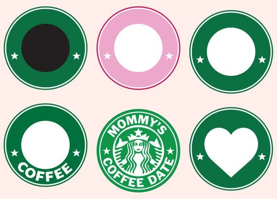 Starbucks Svg Starbucks Clipart Logo Template Svg Coffee Svg Custom Monogram Frame Svg Free Cricut Projects Vinyl Monogram Frame Starbucks Logo