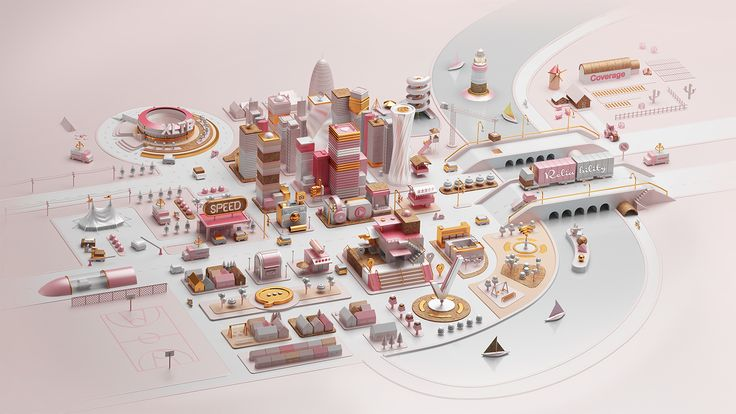 Verizon - A better network as explained by a city on Behance