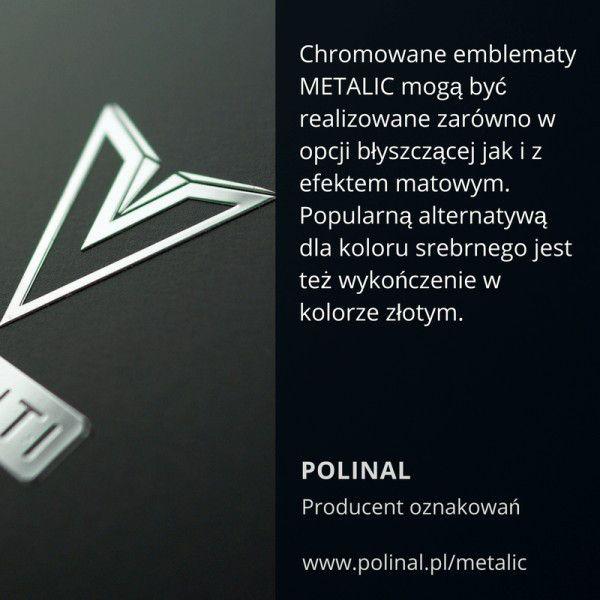 Oznakowania logo - emblematy chromowane