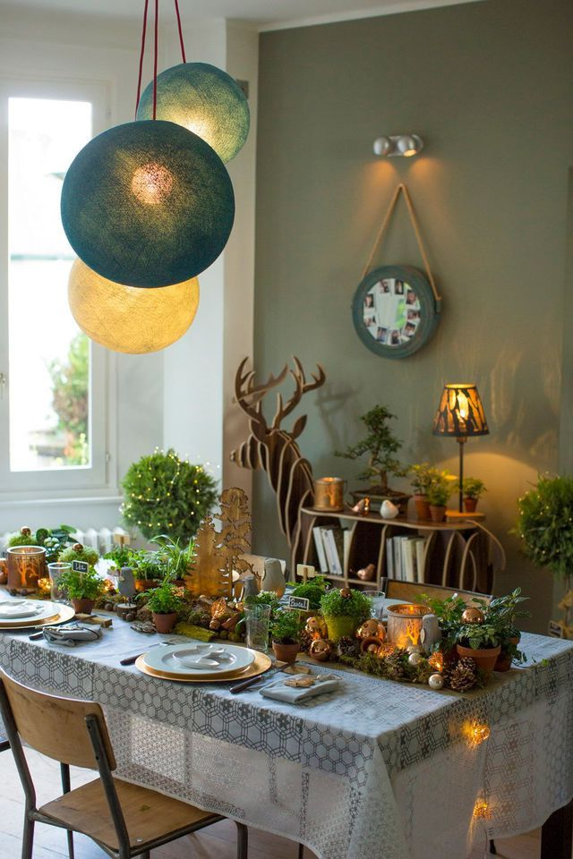 591 best tables de reveillon images on pinterest noel for Idee deco table noel