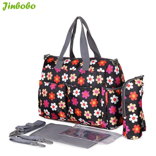 Insular 5 PCS/SET Baby Nappy Bags Diaper Bag Mother Shoulder Bag Fashion Maternity Mummy Handbag Waterproof Baby Stroller Bag