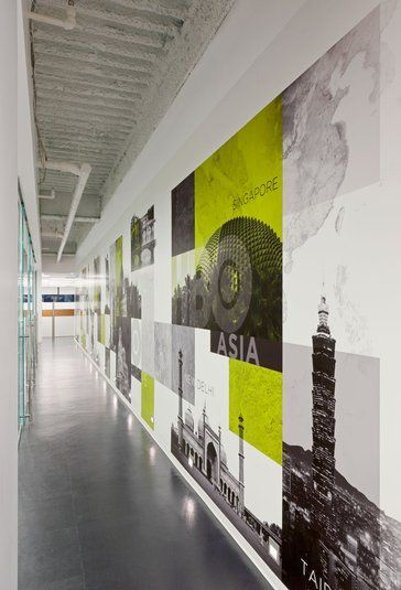 25 best office wall graphics ideas on pinterest for Environmental graphics wall mural