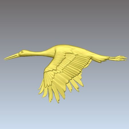 Stork Clipart for CNC machining available from Vector Art 3D