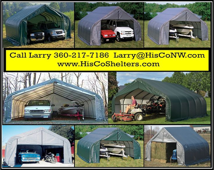 Shelter Logic Portable 2 Car Garage **Peak Roof 18' wide - Heavy Duty - Fully Enclosed **Triple zippered front & back door panels **Prices from $1997. **See: www.hiscoshelters... **Come check out our website explore what we have because there are free shipping both ways you can feel comfortable you are going to get good purchase from us.#cargarage #garage #shelter