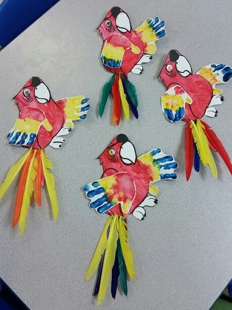 Pirate parrot craft.  From Ms Tracee and Ms Karen's Firefly preschool class.