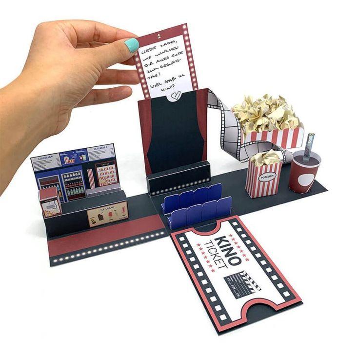 Diy Kinogutschein Verpackung Einfach Und 3